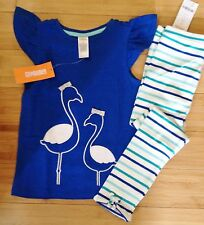 NWT Gymboree Seaside Stroll Outfit Top/Leggings Girls Size 2T 3T 5T