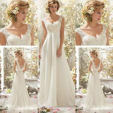 Elegant Grace Ivory Sexy Lace Evening Cocktail Prom Bridesmaid Wedding Dress