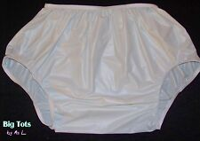 Adult Baby  Milky White PVC plastic diaper cover  pants  *Big Tots by MsL*