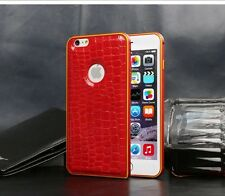 Luxury Metal Frame Leather Back Case Cover For Apple iPhone 6 4.7 Plus 5.5
