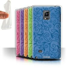 STUFF4 Gel/TPU Case/Cover for Samsung Galaxy Note Edge/N915/Vine Floral Pattern