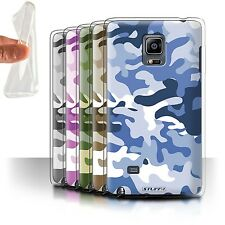 STUFF4 Gel/TPU Case/Cover for Samsung Galaxy Note Edge/N915/Camouflage Army Navy