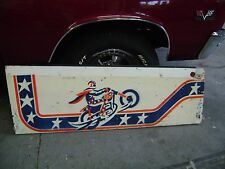 evil knievel pinball machine part wall hanger collectors motorcycle picture