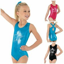 NEW Sparkle Sequin Star Foil Metallic Mystique Dance Gymnastics Leotard Child
