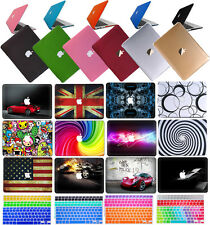 "Laptop Rubberized Hard Case+Keyboard Cover for Macbook 12"" Pro 13""15""AIR 11""13"""