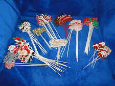 NEW VINTAGE VINTAGE VARIETY CHRISTMAS CRAFT, FLORAL PARTY PICKS, U CHOOSE