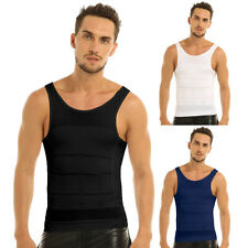 Men's Slim Body Shaper Belly Fatty Underwear Vest Shirt Corset Compression Tops
