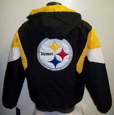PITTSBURGH STEELERS 1/2 Zip Pullover Jacket STARTER  MED, LG XL 2X BLACK YELLOW