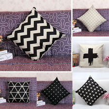 Waves Style Grid Check Throw Pillow Cases Home Decorative Cushion Cover Square