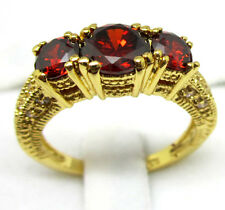 Jewelry Fashion Women's Ring 10KT Yellow Gold Filled Ruby Size:7/8/9 Wedding