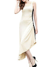 Woman New Style Slim Fit Asymmetric Hem Mid-Calf Length Summer Dress