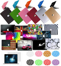 """Laptop Rubberized Hard Case +KB+SP Cover for Apple Mac Pro 13""""15""""Air 11""""13""""/12"""""""