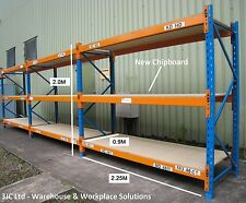 Dexion Speedlock Pallet Storage Racking - 2.4M Beams 3 to 8 Bays With Chipboard