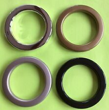 50mm Plastic Eyelets for Eyelet Curtains/Eyelet Rings/4 Colours/Pack of 10