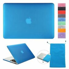 """Clear Front+ Back Hard Rubberized Cover Shell Case for Macbook PRO 13"""" 15""""Retina"""