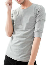 NEW Fashion Mens Round Neck Casual T-shirt Half Sleeve