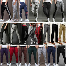 New Mens Skinny Sports Trousers Gym Running Casual Tracksuit Bottoms Sweat Pants