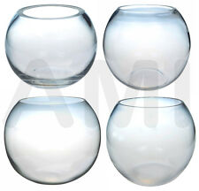 CLEAR GLASS FISH BOWLS VASES WEDDING DECORATIONS 10CM, 15CM, 20CM, 25CM, 30CM