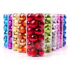 24pcs/Box 4cm Glitter Matt Baubles Ball Christmas Tree Xmas Party Decoration