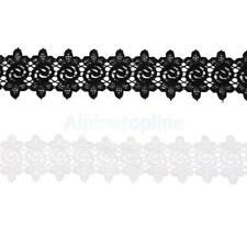 3 Yards Embroidered Applique Lace Trim Candy Pattern Wedding Bridal Dress Decor