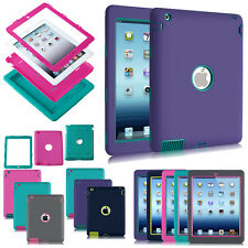 For Apple iPad 2 3 4 5 6 Back Cover Air 2 Mini Silicone Case Rubber Shock Proof