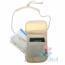 Travel Money Passport Card with Neck Strap Under Clothing Holster Bag Pouch