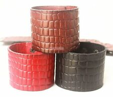 1pcs Genuine Leather Bracelet for Women Leather Cuff Printing Bracelet & Bangles