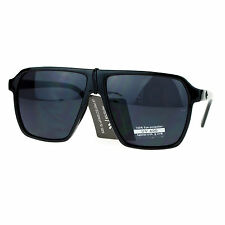 Square Flat Top Sunglasses Unisex Plastic Frame Fashion Shades