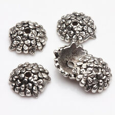 15/30Pcs Tibetan Silver Daisy Charm Bead Caps Necklace Bracelet Findings 12mm