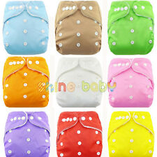 Newborn Infant Baby Cloth Diaper Nappy Covers One Size Adjustable Reusable