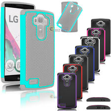 For LG G4 Matte Rugged Rubber Hybrid Shockproof Hard Shell Case Cover Skin