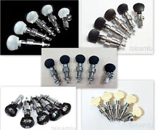 5 string banjo machine heads, Chrome plated, ebony, acrylic, inlaid button,328C