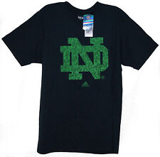 OFFICIAL NCAA ADIDAS NOTRE DAME FIGHTING IRISH ND LOGO NAVY TEE T-SHIRT BNWT