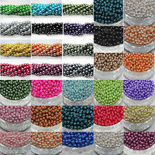 Lots 50pcs Top Quality Chic Czech Glass Loose Round Beads Jewelry Making 6mm