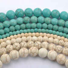 Wholesale 20/100Pcs Howlite Turquoise Gemstone Round Loose Beads DIY 4/6/8/10mm