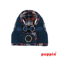 Choose Size - PUPPIA - SMURF - Soft Dog Puppy Step In Harness Vest - Navy Blue