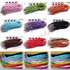 New Leather Braid Rope Hemp Cord Lobster Clasp Chain For Necklace Accessory 46cm