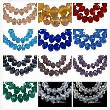 150pcs Pearl Luster Plated Crystal Suncatcher Faceted Abacus Glass Beads 4x3mm