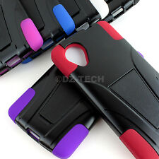 For LG Google Nexus 5 D820 D821 Rugged Hybrid Armor Hard Case Cover Y Kickstand