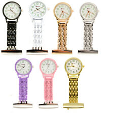 Personalised Luminous Nurse Beauticians Fob Watch in Gift Box, Engraved Name