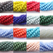 Wholesale 50/100/200Pcs Czech Glass Faceted Rondelle Bead Jewelry DIY 4/6/8/10mm