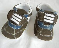 BROWN WHITE BLUE BABY BOY shoes toddler shoes baby boy shoes US size3