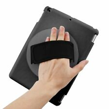 Rotating Handheld Holder Hard Case Cover with Adjustable Hand Strap for iPad Air