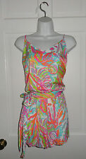NWT LILLY PULITZER RESORT WHITE SCUBA TO CUBA DEANNA ROMPER M L XL