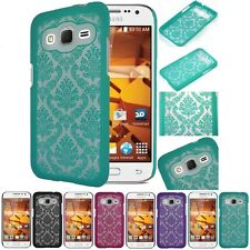 Samsung Galaxy Prevail LTE / Core Prime Lace TPU Hard Slim Back Case Phone Cover