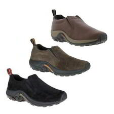 Merrell Jungle Moc Mens Black Brown Grey Leather Walking Shoes Size 7-14