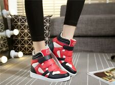 5 colors fashion womens Round Toe hidden wedge platform high top sneakers shoes