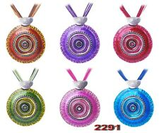Hot Round Crystal Enamel Pendant Necklace Halloween Christmas Party Jewelry Gift