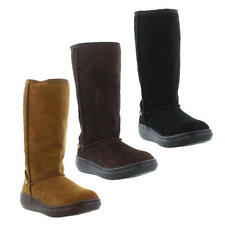 Rocket Dog Sugar Daddy Womens Black Brown Suede Leather Boots Size UK 3-8