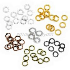 Lot Gold & Silver & Bronze Plated Open Jump Single Split Rings Connector 4-12 mm